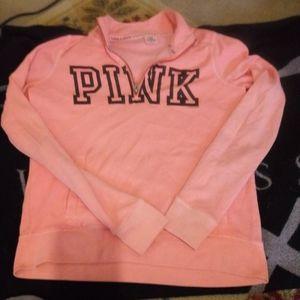 Pink top half zip
